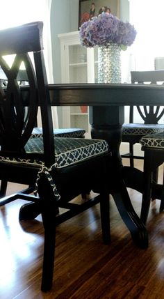 Dining Room Chair Cushion Slipcover Tutorial