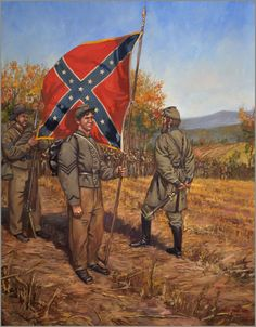 Mark Maritato Art - Rebel Colors by Mark Maritato Civil War Flags, Civil War Art, Confederate States Of America, Confederate Flag, American Civil War, American History, Southern Heritage, Southern Pride, Civil War Photos