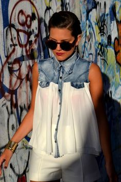 Denim and Chiffon