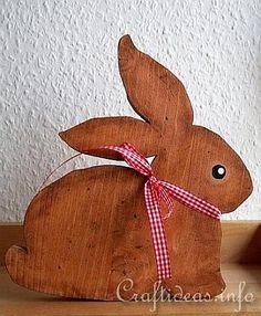 Easter Wooden Rabbit