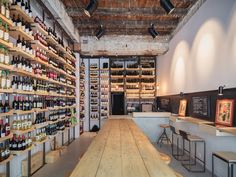 BvS Wine Traders by Beros & Abdul Architects, Bucharest store design