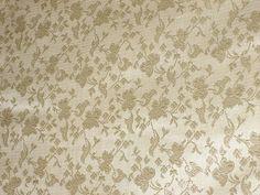 "100% Pure Silk Brocade Width 44"" Ivory Colour"