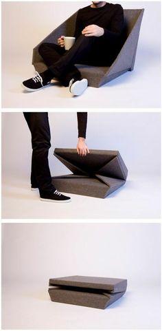 kleine wohnung einrichten funktionale möbel klappbarer stuhl