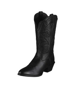 Ariat Women s Heritage Western R Toe Boot - Black Deertan Simply perfect!  Cowboy Boots Women 11c5089961bb