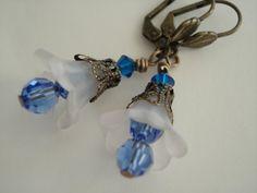 Flower Earrings Lucite Jewelry Handmade by LuluLilyJewelry on Etsy