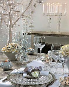 centro de mesa con cristales | destellos de navidad adornos con cuentas que centellean lazos de