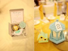 Aqua and Sunflower Wedding