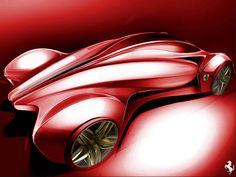 Ferrari Concept Design Sketch by Paul Nichols
