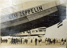 August 8, 1929: The Graf Zeppelin (LZ 127) begins its circumnavigation of the globe at Lakehurst, New Jersey.