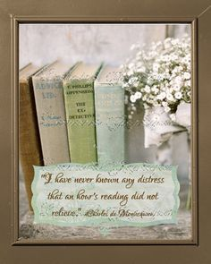 On Reading Books  A Shabby Chic Setting to Remind by ChezLorraines, $12.00