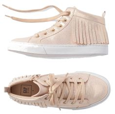 19b62a6caf31 Gap Kids NWT Rose Gold Metallic High-Top Fringe Sneakers 12 $55 #Gap #