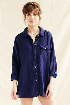 US Rags Oxford Shirt Tunic - Urban Outfitters