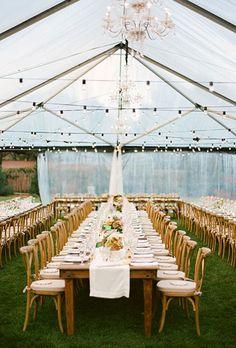 Beautiful Wedding Tent Ideas: High Glass Ceiling   Brides.com