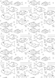 FREE printable nautical coloring page | fish coloring #coloringpage #blackandwhite