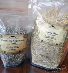 My Merry Messy Life: Echinacea and Licorice Root from Mountain Rose Herbs