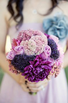 Weddbook ♥ Pink roses, purple flowers, and lavender wedding bridal bouquet. Beautiful Pink and Purple Bouquet. Bride and bridesmaid bouquet ideas. Photography by Ashley Rose Photography. Purple Wedding Bouquets, Wedding Colors, Wedding Flowers, Lilac Wedding, Bridal Bouquets, Bride Flowers, Hand Flowers, Bouquet Bride, Bouquet Wedding