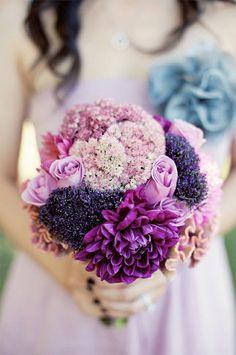 shades of purple, lavender weddings, wedding ideas, wedding bouquets, purple flowers, purple wedding, dream wedding, purple bouquets, bridesmaid bouquets