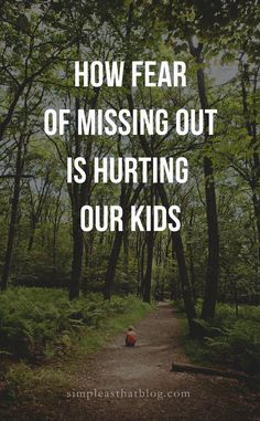 We're lead to believe that our kids need to be scheduled, their time accounted for. But, what they really need is freedom. Time to be little. Bonding Activities, Movement Activities, Gentle Parenting, Parenting Advice, Minimalism For Kids, Fear Of Missing Out, Strong Family, Music And Movement, Attachment Parenting