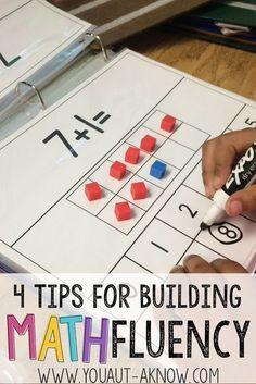 Building Math Fluency in the Special Education classroom is easy with these 4 tips. Check out how I build Math Fluency in my Autism Classroom! classroom 4 Tips for Building Math Fluency - You Aut-A Know 1st Grade Math, Kindergarten Math, Teaching Math, Elementary Math, Teaching Ideas, Second Grade, Math Stations, Math Centers, Math Skills