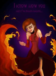 I love the idea of Anna representing the summer while Elsa is the winter Hey check out my newest Graphic Novel that is based on this artwork ; Anna The Fire Queen Cute Disney, Disney Girls, Disney Princess Memes, Disney Theory, Frozen Characters, Disney Crossovers, Frozen Elsa And Anna, Twisted Disney, Disney Music