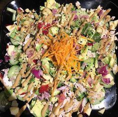 Veganese Salad With House Made Organic Peanut Dressing  #Vegan #GlutenFree #Organic