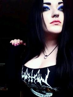 Watain Black Metal from Sweden Beautifull girl, nice boobs BD Metal Fashion, Dark Fashion, Gothic Fashion, Ladies Of Metal, Metal Girl, Goth Beauty, Dark Beauty, Gothic People, Gothic Images