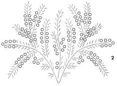 manualidades varias: Moldes de Flores Para Bordar en Cinta