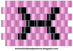 Brick Stitch Bead Patterns Journal: X - Alphabet 1 Free Brick Stitch Bead Pattern
