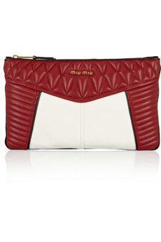 Miu Miu Biker quilted leather clutch | NET-A-PORTER
