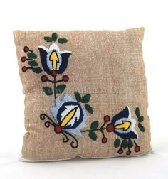Kashubian pillow with motif. Print. Beautiful and impressive. More designs and colors on www.phukaszub.pl