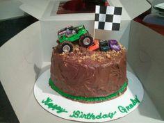 Monster truck cake 2012 Festa Monster Truck, Monster Truck Birthday Cake, Monster Trucks, Cake Birthday, 4th Birthday, Monster Jam Cake, Truck Cakes, Car Cakes, Cakes For Boys