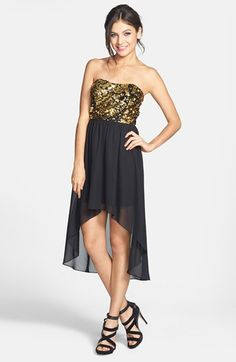 Hailey Logan Sequin Bodice High/Low Dress (Juniors) (Online Only) available at #Nordstrom