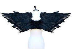 SACAS Large Feather Costume Fairy Angel Wings in Black SACAS http://www.amazon.com/dp/B00Y7PYA0U/ref=cm_sw_r_pi_dp_vCTgwb1NVVB4A