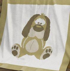 Crochet Pattern | Baby Blanket / Afghan - Dog