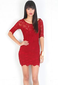 Nightcap Clothing Boatneck Victorian Dress in Red Currant  $229