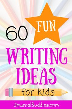 These 60 new kids writing ideas for students ages 7-14 will set them off on an adventure on the page. Students can consider important issues such as the right thing to do with a lost wallet or the qualities necessary in a good friend. They can also get imaginative with prompts asking them to write a sequel to a fairy tale or a story about life on a pirate ship