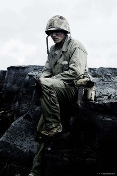 Barry Pepper as Pvt. Jackson in Saving Private Ryan... I have a thing for snipers... lethal from a distance.
