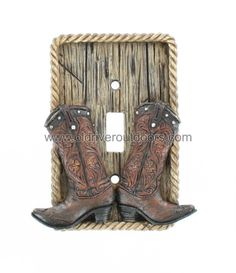 Cowboy Boot Single Switch Cover - Western Boots Rodeo Cowgirl Texas Decor | eBay