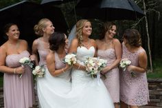 A little rain could not spoil this wedding day joy. Nelson Andrews Leadership Lodge #wedding #bridesmaids #photo #weddingday #getting married #inspiration #Nashville #photography #photographer  #Nelson Andrews Leadership Lodge