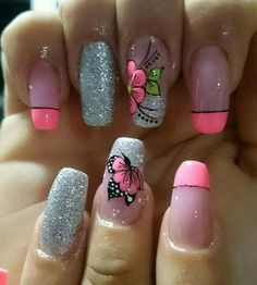 Hot Nails, Swag Nails, Cute Nail Art Designs, Nail Decorations, Spring Nails, Manicure And Pedicure, Nails Inspiration, Essie, Cute Beauty