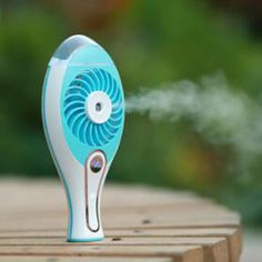 2017 New portable rechargeble mini water mist cooling fan perfect quality facial steamer #Affiliate