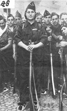 "Francisca Solano was a nurse before the war, but wanted to ""fight Fascists"" so joined the Militia"" She a captain of the 'Milicana' she was killed 26th July 1936."