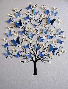 UNmatted / UNmatted / UNframed, this TREE of 3D BUTTERFLIES would be a very special gift for parents or grandparents who are celebrating an anniversary or other special occasion. BUTTERFLIES are created especially for your family in SIZES + COLOURS to represent EACH generation