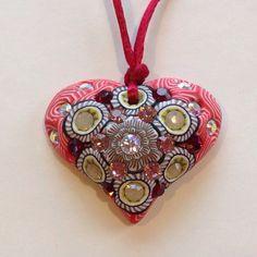 Billie+Beads+Millefiore+Heart+Shaped+Valentine+by+BillieBeads,+$40.00