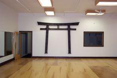 Torii Gate in the dojo Karate Dojo, Japan Interior, Shotokan Karate, Torii Gate, Aikido, Interior Design, Gates, Room, Teacher