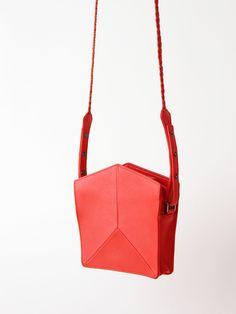 No 1 Prism Mini - Scarlet Orange / IMAGO-A / via Pour Porter / $450.00 / lamb skin / only one left!  so sharp