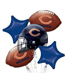 Chicago Bears Balloon Bouquet - Party City