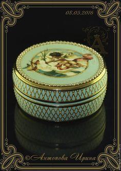 """Купить Шкатулка-""""Ангел"""" - бирюзовый, шкатулка, шкатулка для украшений, шкатулка ручной работы, шкатулка деревянная"""
