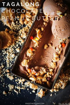 Tagalong Chocolate Peanut Butter Ice Cream \\ PasstheSushi.com