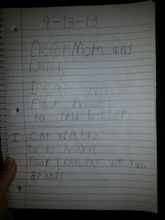 My oldest son wrote this in his school journal. All he wants is for me to be better so I can play with him.